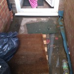 Doorway constantly flooding needs drainage Hayes London