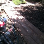 Garden renovation sleeper path Acton London