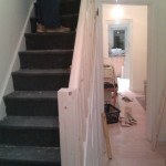New staircase rails under construction second picture Wembley London