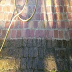 Pressure washing cobbles Ealing London