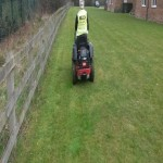 Mowing large lawn in Perivale using a zero turn mower