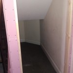 Storage area with fire rated plasterboards (prior to plastering and decoration) Wembley London