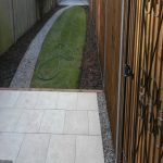 Completed Garden Perivale with vitrified paving